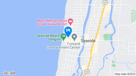 Seashore Inn ... on the Beach Map