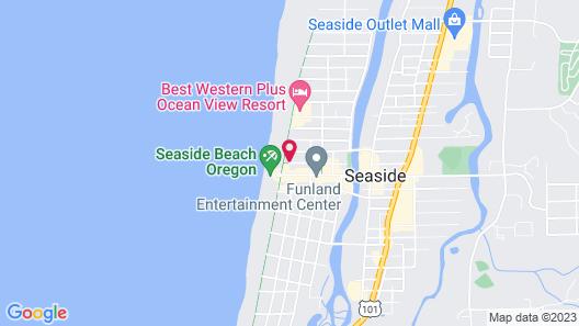 Seashore Inn on the Beach Map