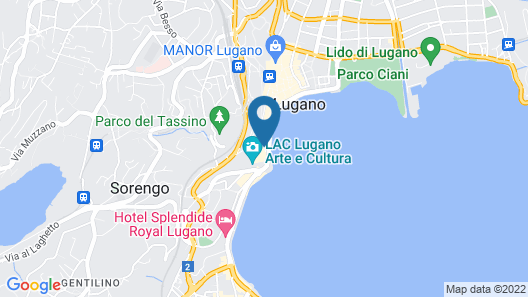 International au Lac Historic Lakeside Hotel - Lugano Map