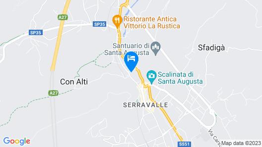 Castrum di Serravalle Map