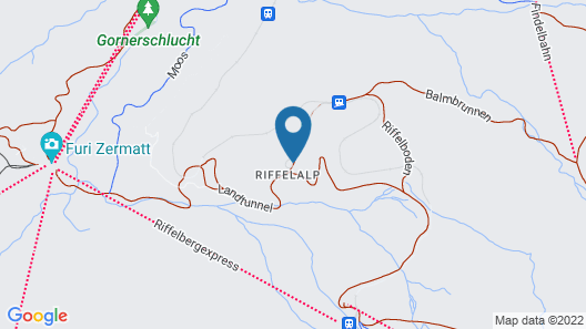 Hotel Riffelalp Resort 2222m Map