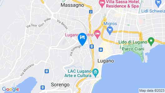 Hotel Stella Lugano, Cosy & Charming Map