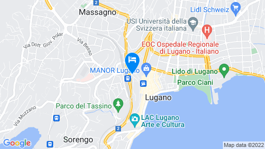 Hotel Federale Lugano Map