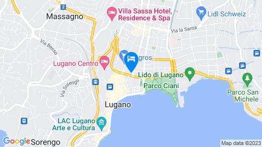 Hotel Zurigo Downtown Map