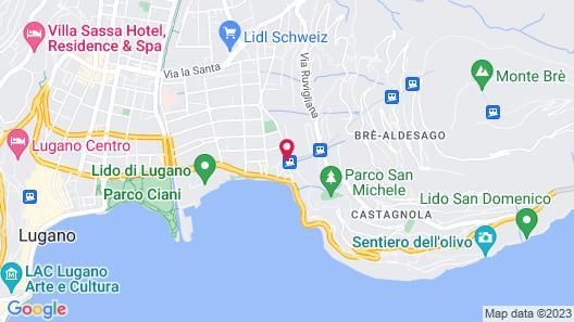 Grand Hotel Villa Castagnola Map