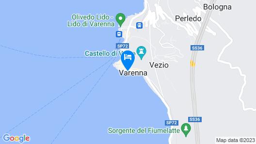 Del Duca Apartment Varenna Map