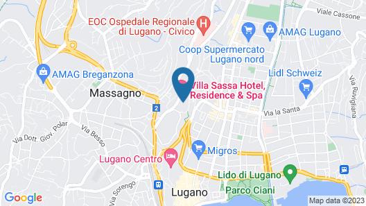 Villa Sassa Hotel, Residence & Spa Map