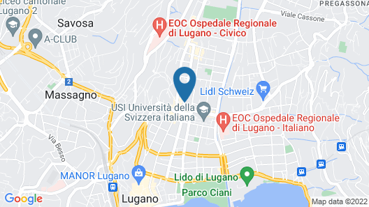 Hotel City Lugano, Design & Hospitality Map