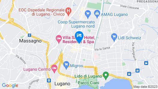 Hotel City Lugano, Design & Hospitality Map