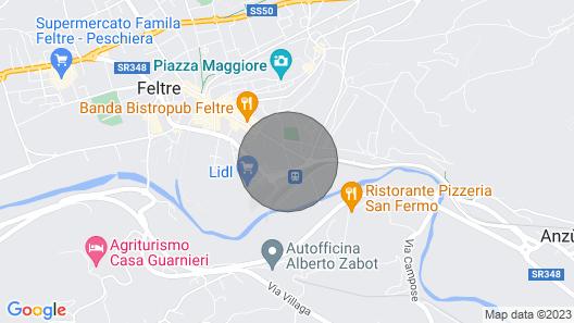 Great Apartament in Feltre Map