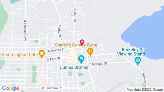Motel 6 Butte, MT - Historic City Center Map