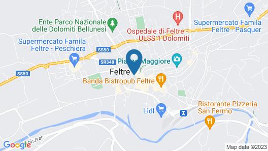 Hotel Nuovo De Cesero Map