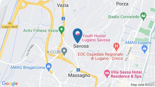 Youth Hostel Lugano Savosa Map