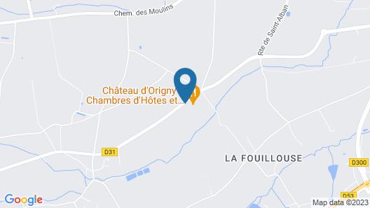 Château Dorigny Map