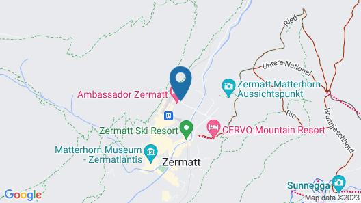 Le Mirabeau - Hotel & Spa Zermatt Map