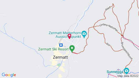 Alpenhotel Fleurs de Zermatt Map