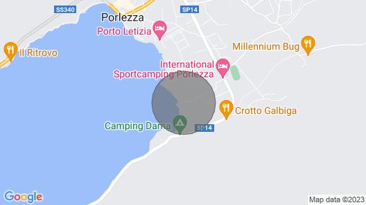 Chalet With air Conditioning at Lake Lugano, Como, Porlezza, Menaggio, Lagodilugano Map