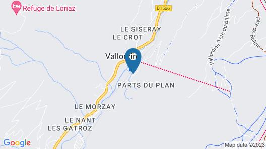 Dormio Resort Les Portes du Mont Blanc Map