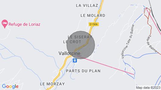 Apartment Chalet Les Aiguilles Rouges in Vallorcine Mont Blanc 77m² classified 4 * Map