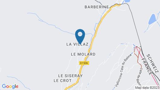 Chalet Mont Blanc - La Villaz Map