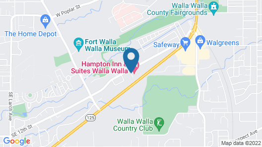 Hampton Inn & Suites Walla Walla Map