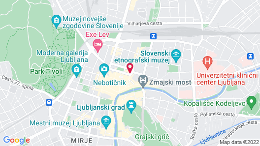 City Hotel Ljubljana Map