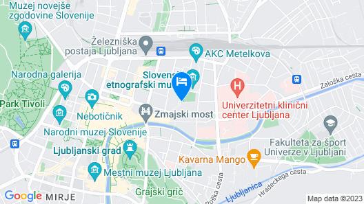B&B Hotel Ljubljana Park Map
