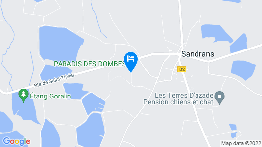 Camping Paradis des Dombes Map