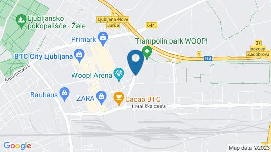 Radisson Blu Plaza Hotel Ljubljana Map