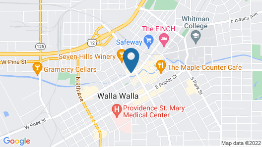 The Marcus Whitman Hotel and Conference Center Map