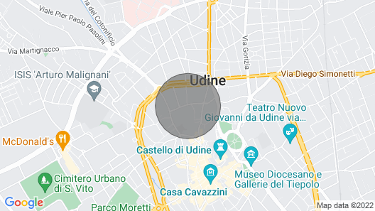 Yellow Apartment Ribolla Udine Historical Center Map