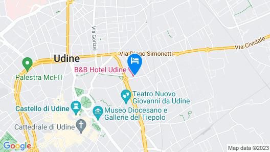 B&B Hotel Udine Map