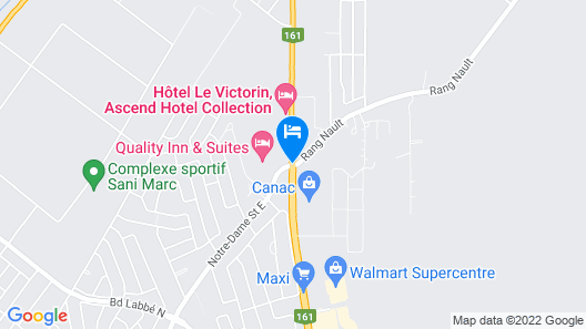 Quality Inn & Suites Victoriaville Map