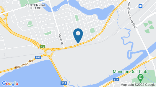 Motel 6 Moncton, NB Map