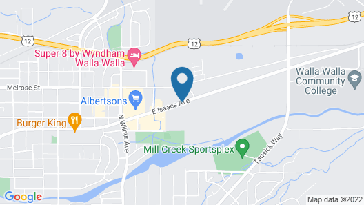 Walla Walla Garden Motel Map