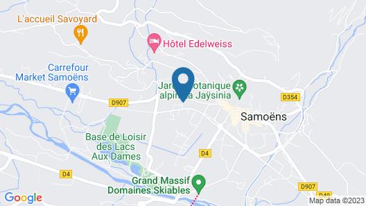 Chalet-Hôtel Neige et Roc, The Originals Relais (Hotel-Chalet de Tradition) Map