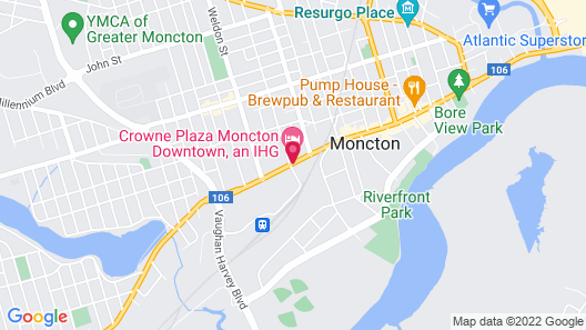 Crowne Plaza Moncton-Downtown, an IHG Hotel Map