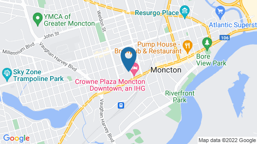 Hilton Garden Inn Moncton, NB Map