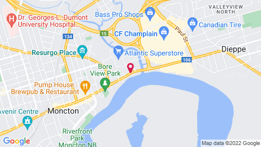 Chateau Moncton Trademark Collection by Wyndham Map