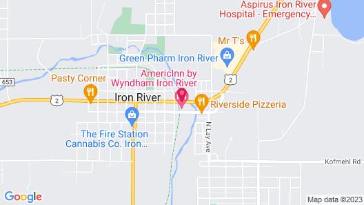 AmericInn by Wyndham Iron River Map
