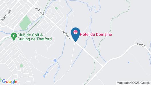 Hôtel du Domaine, centre de villégiature et de congrès de Thetford Map