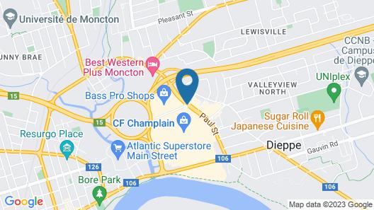 Coastal Inn Moncton/Dieppe Map