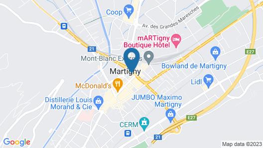 Campanile Martigny Map