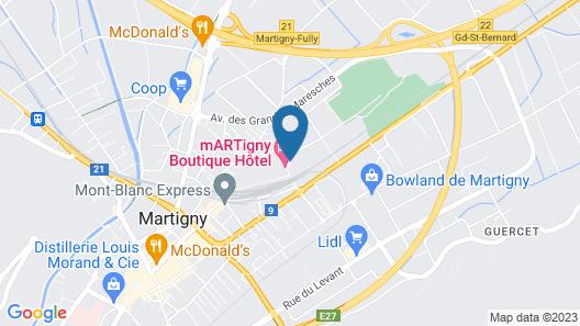 Martigny Boutique-Hôtel Map