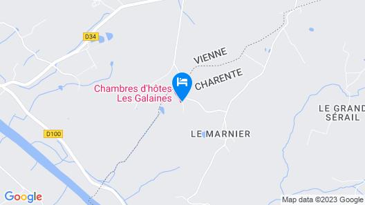 Chambres d'hôtes Les Galaines Map
