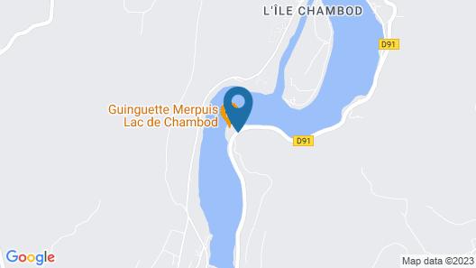 Cabanes et Lodges du Belvedere Map