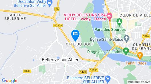 Première Classe Vichy - Bellerive sur Allier Map