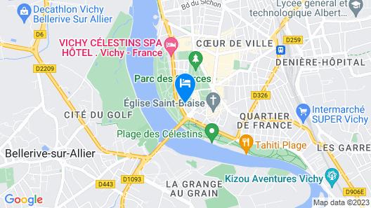 The Originals Boutique, Hôtel Les Nations, Vichy (Inter-Hotel) Map