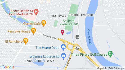 Quality Inn & Suites Longview Kelso Map