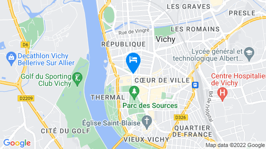 Ibis Vichy Map